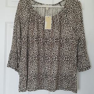 NWT Michael Kors animal print top